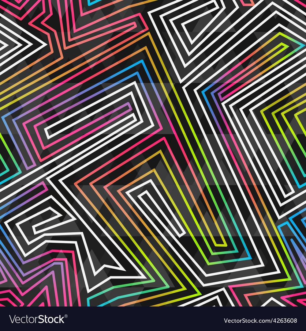 Bright neon seamless pattern vector | Price: 1 Credit (USD $1)