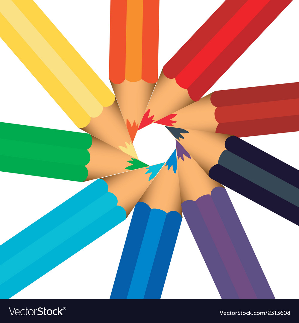Colorfull colored pencil sorted  background vector | Price: 1 Credit (USD $1)