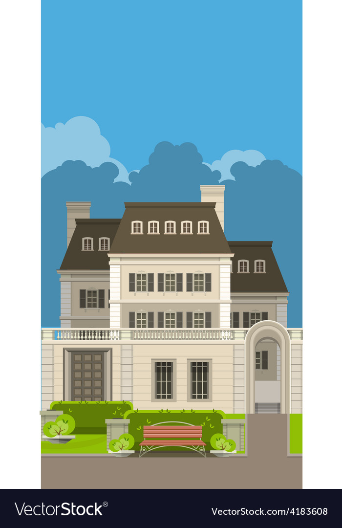 Country house vector   Price: 3 Credit (USD $3)