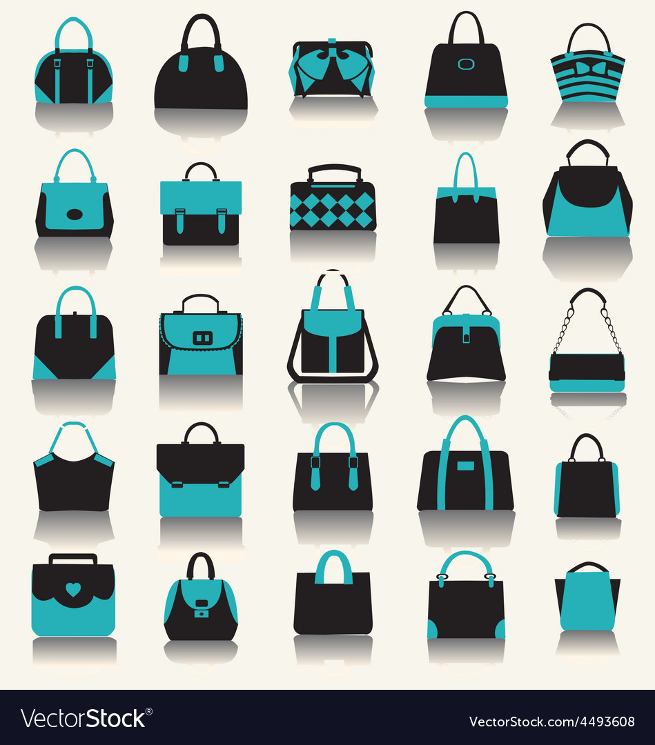 Fashion bags women handbags and business case vector | Price: 1 Credit (USD $1)