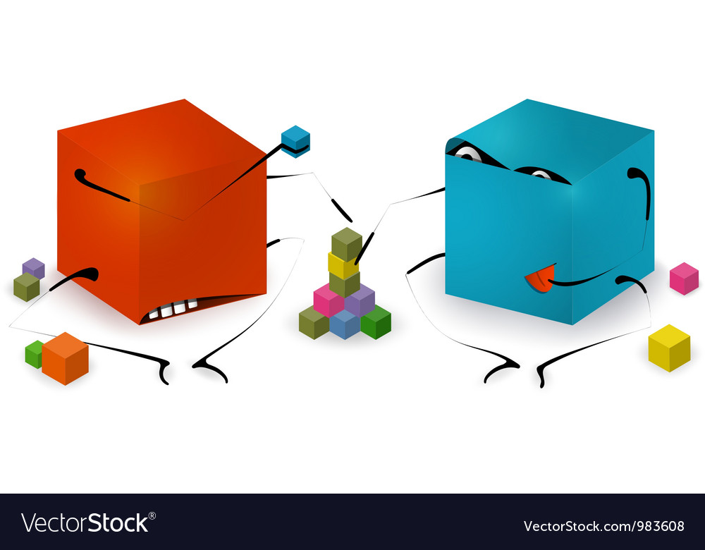 Funny toy blocks playing vector | Price: 1 Credit (USD $1)