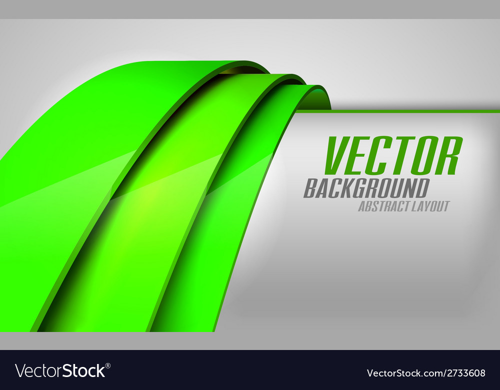 Krivky green vector | Price: 1 Credit (USD $1)