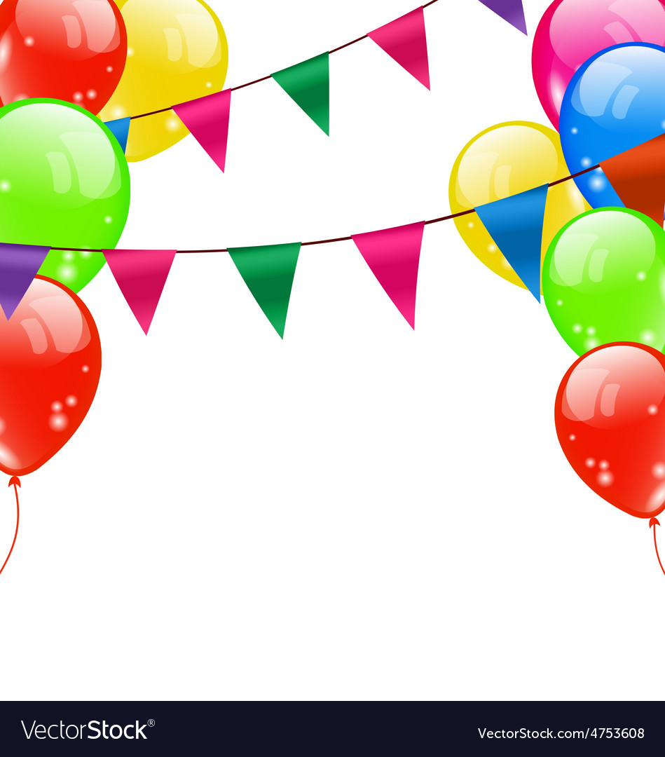 Party background with balloons vector | Price: 1 Credit (USD $1)