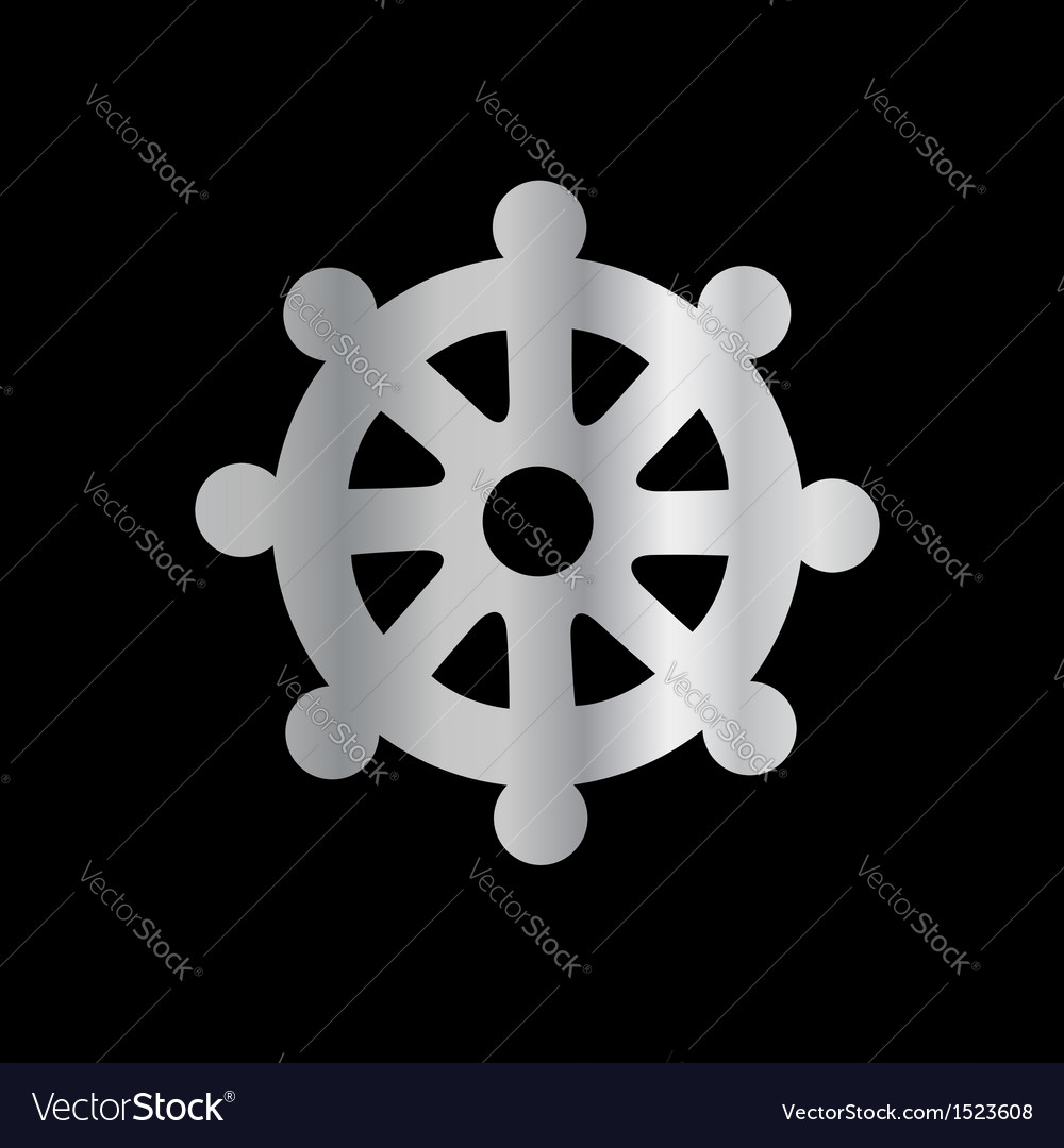 Wheel of dharma- symbol buddhism vector | Price: 1 Credit (USD $1)