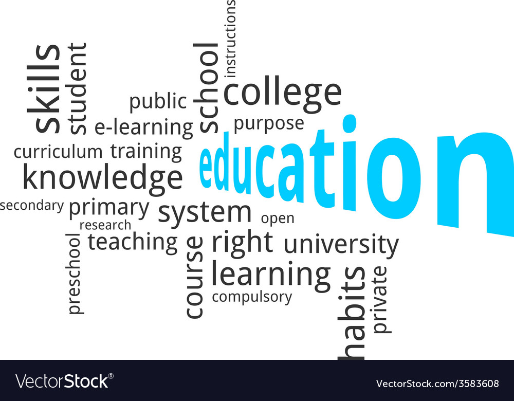Word cloud education vector | Price: 1 Credit (USD $1)