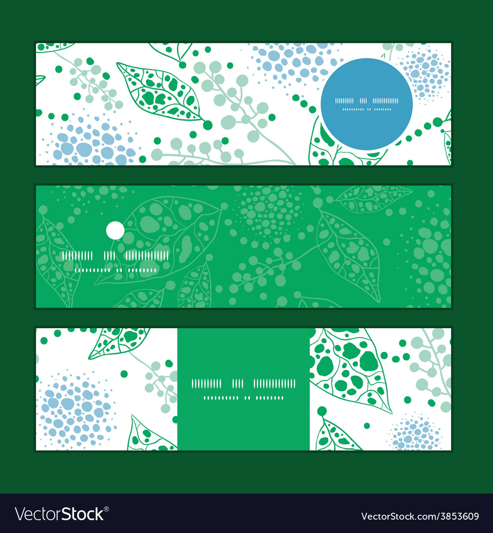 Abstract blue and green leaves horizontal vector | Price: 1 Credit (USD $1)
