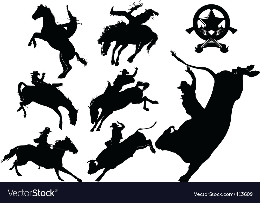 Cowboy rodeo vector | Price: 1 Credit (USD $1)