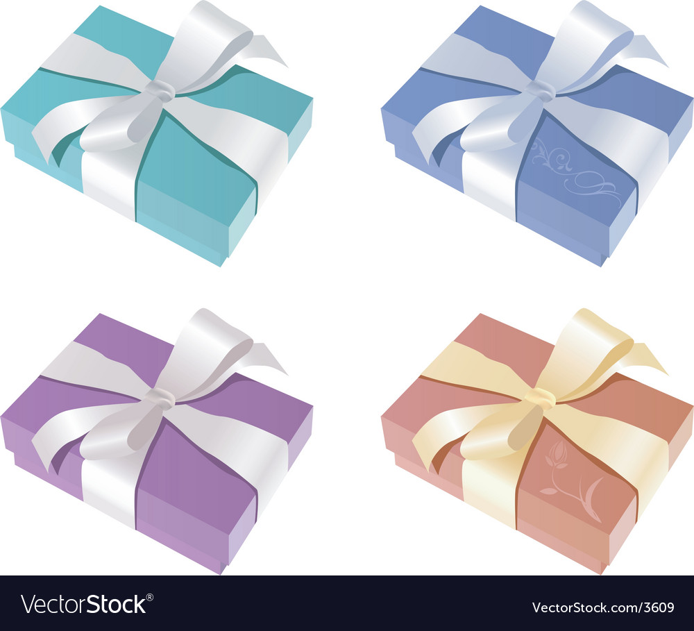 Elegant gift boxes vector | Price: 1 Credit (USD $1)