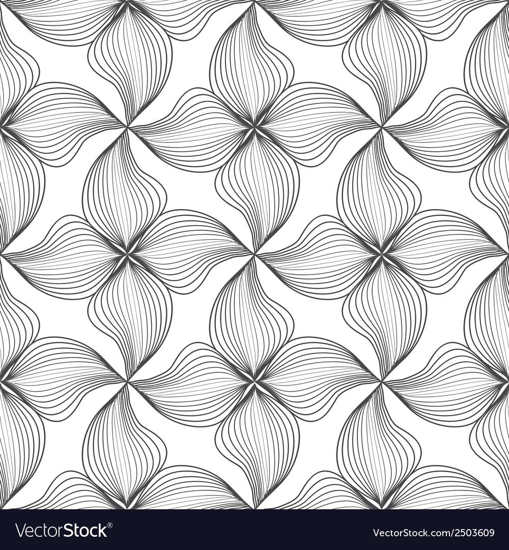 Flower seamless pattern vector | Price: 1 Credit (USD $1)