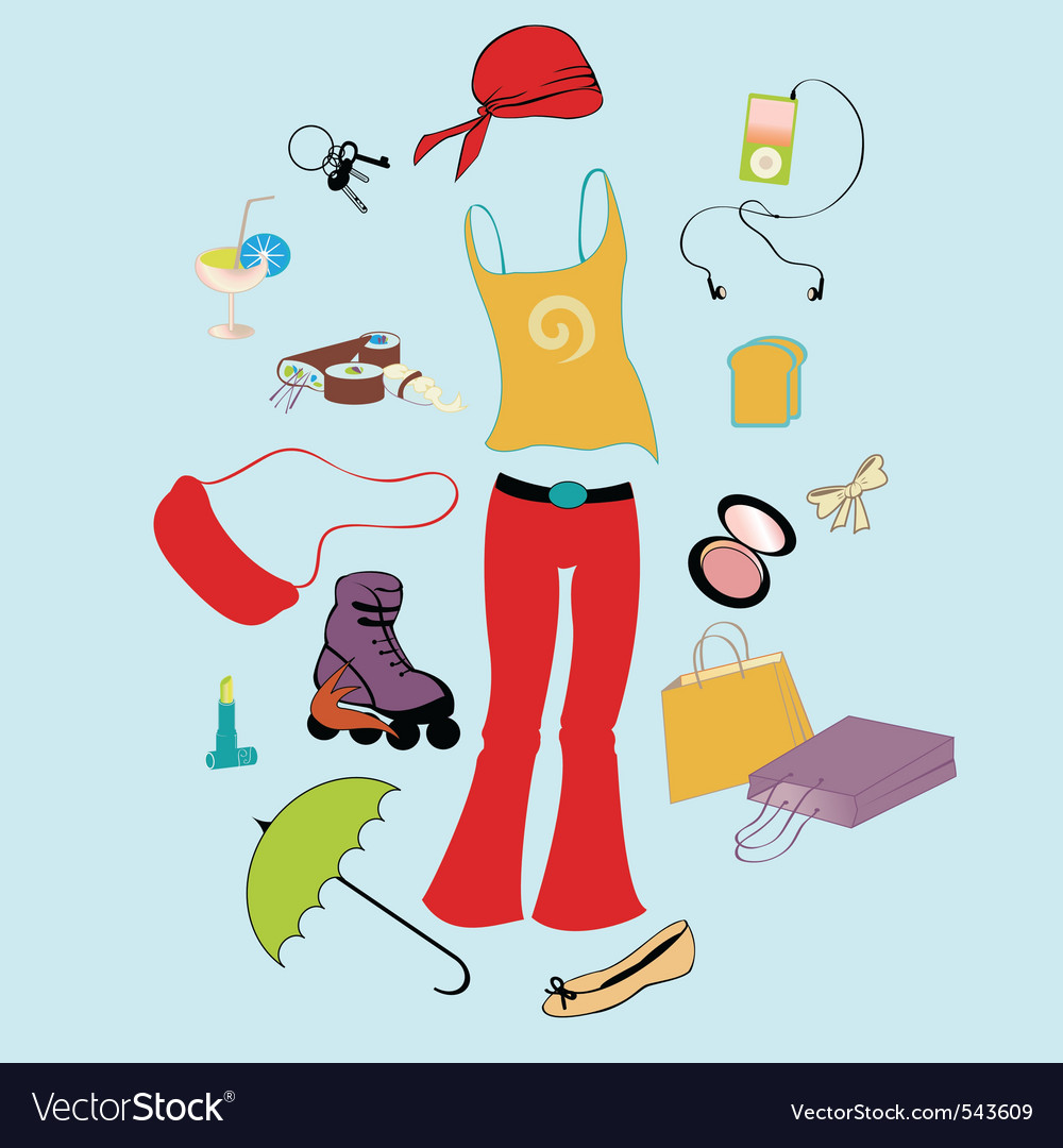 Funky teen lifestyle vector | Price: 1 Credit (USD $1)