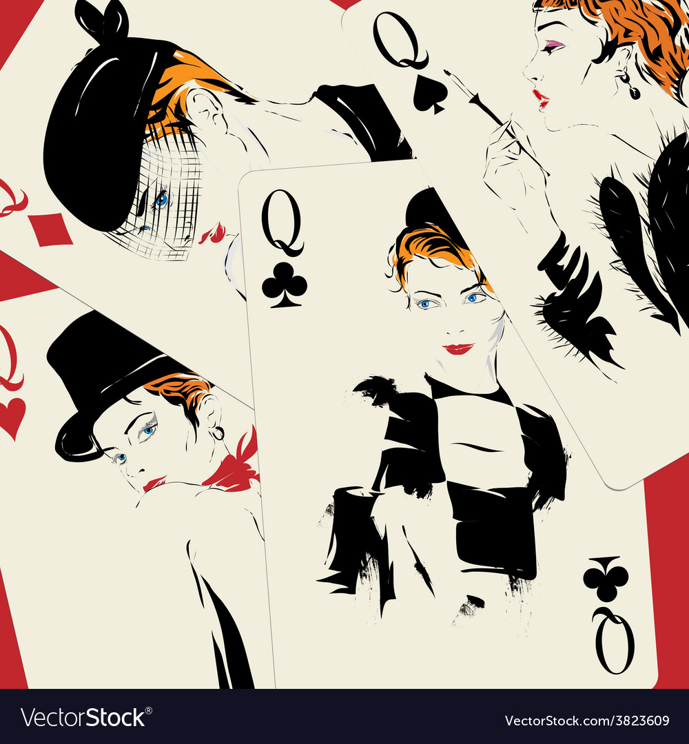 Playing card poker casino vector | Price: 1 Credit (USD $1)