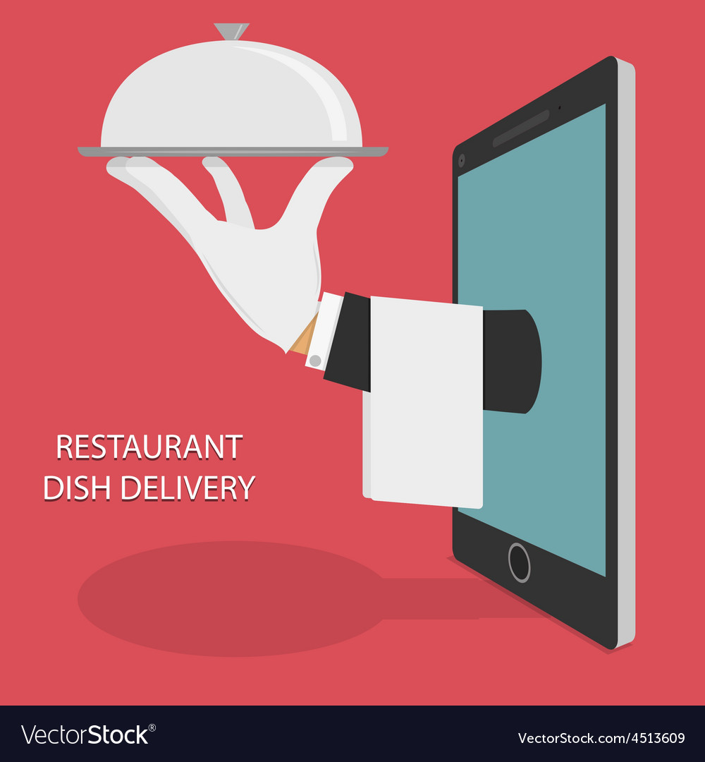 Restaurant food delivery concept vector | Price: 1 Credit (USD $1)