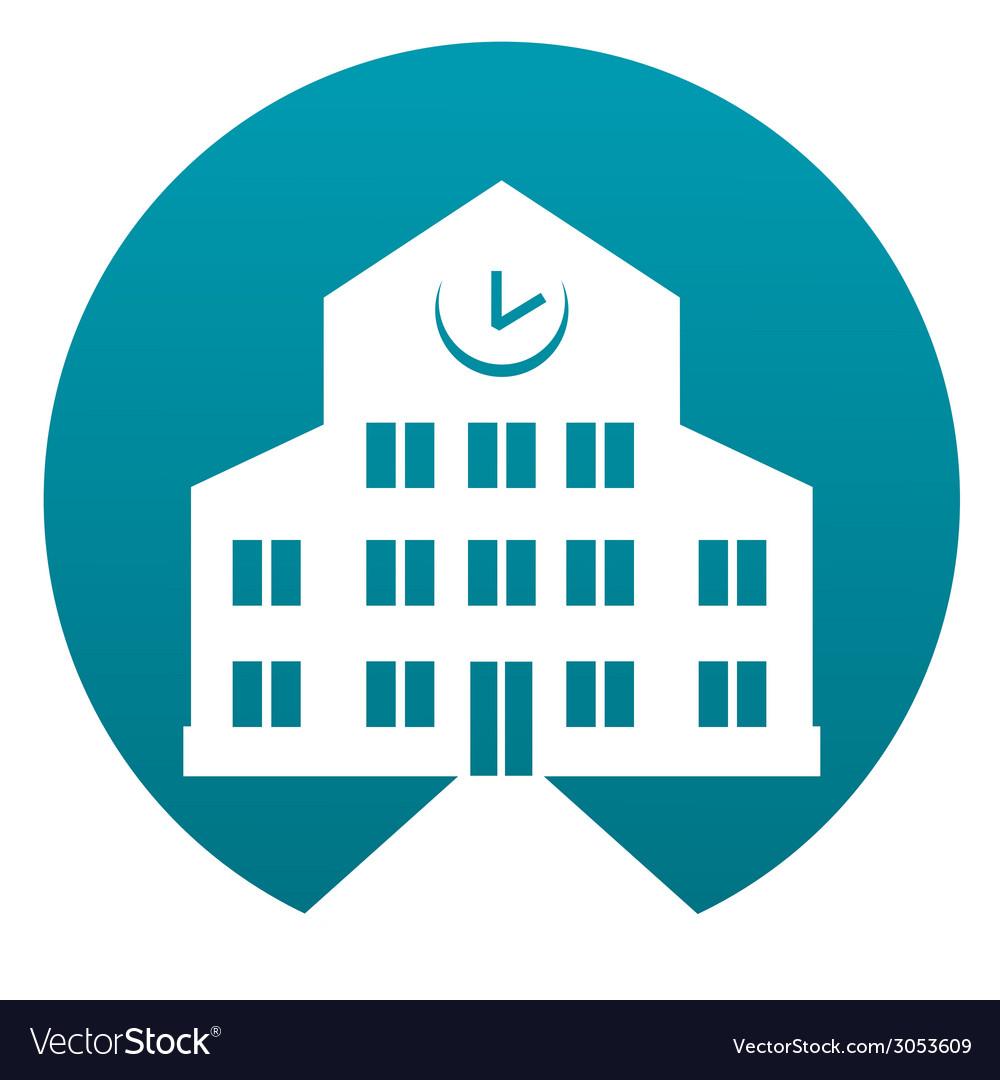 School building sign vector | Price: 1 Credit (USD $1)