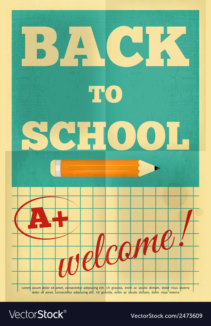 School poster vector | Price: 1 Credit (USD $1)