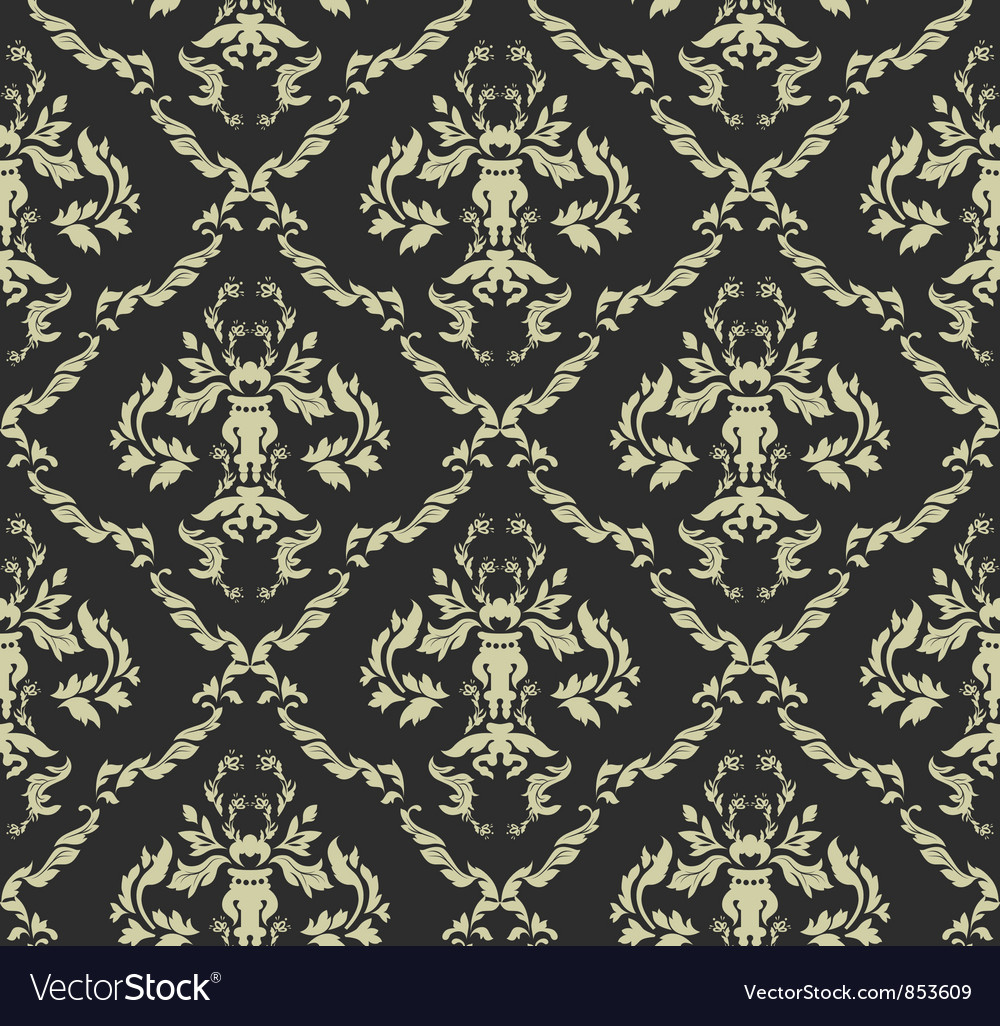 Seamless baroque pattern vector | Price: 1 Credit (USD $1)