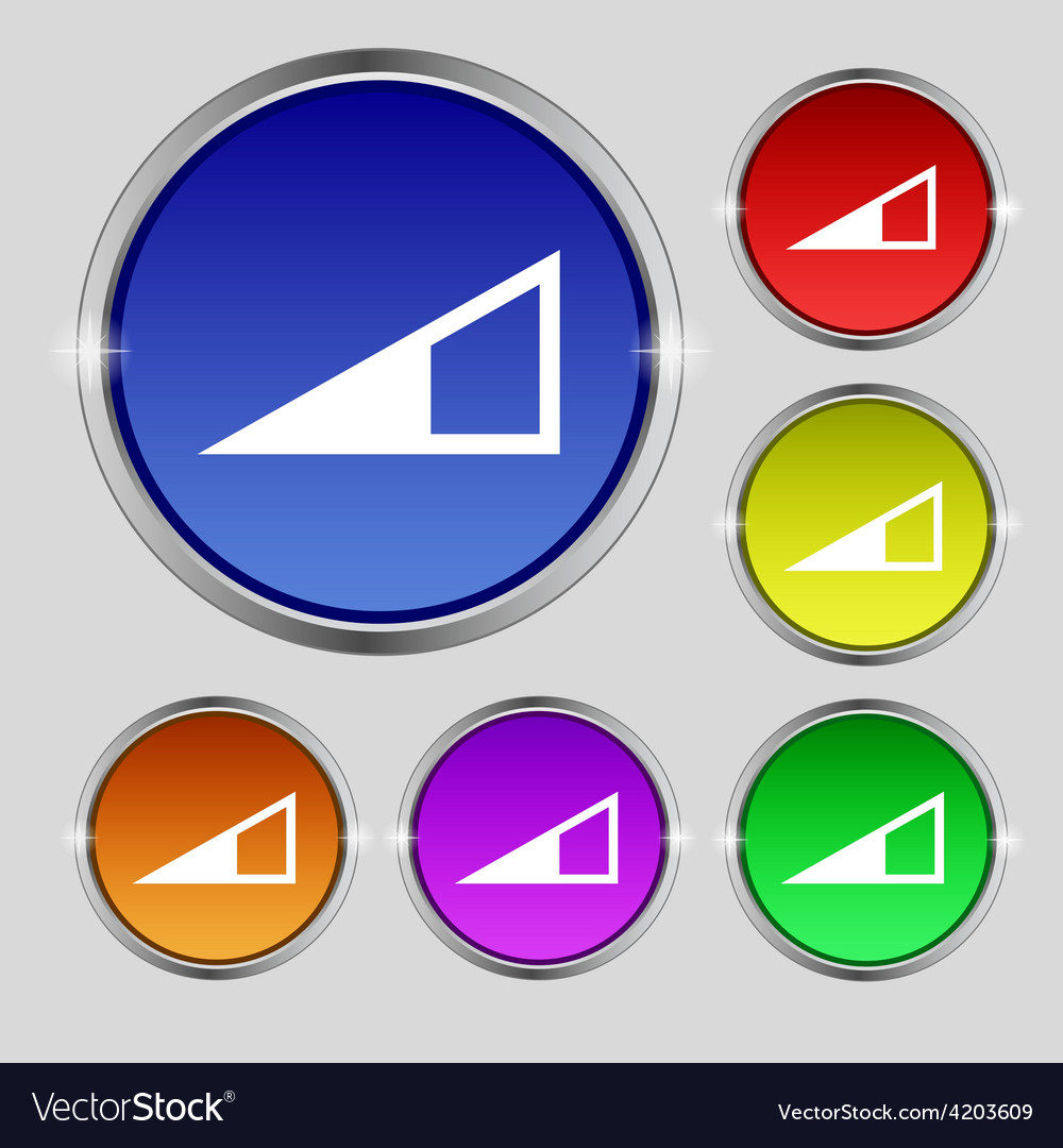 Speaker volume icon sign round symbol on bright vector | Price: 1 Credit (USD $1)