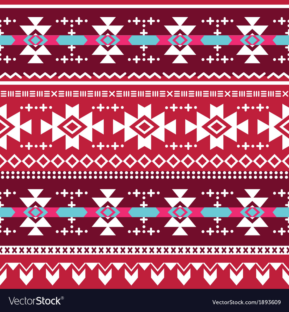 Tribal aztec seamless pattern vector | Price: 1 Credit (USD $1)
