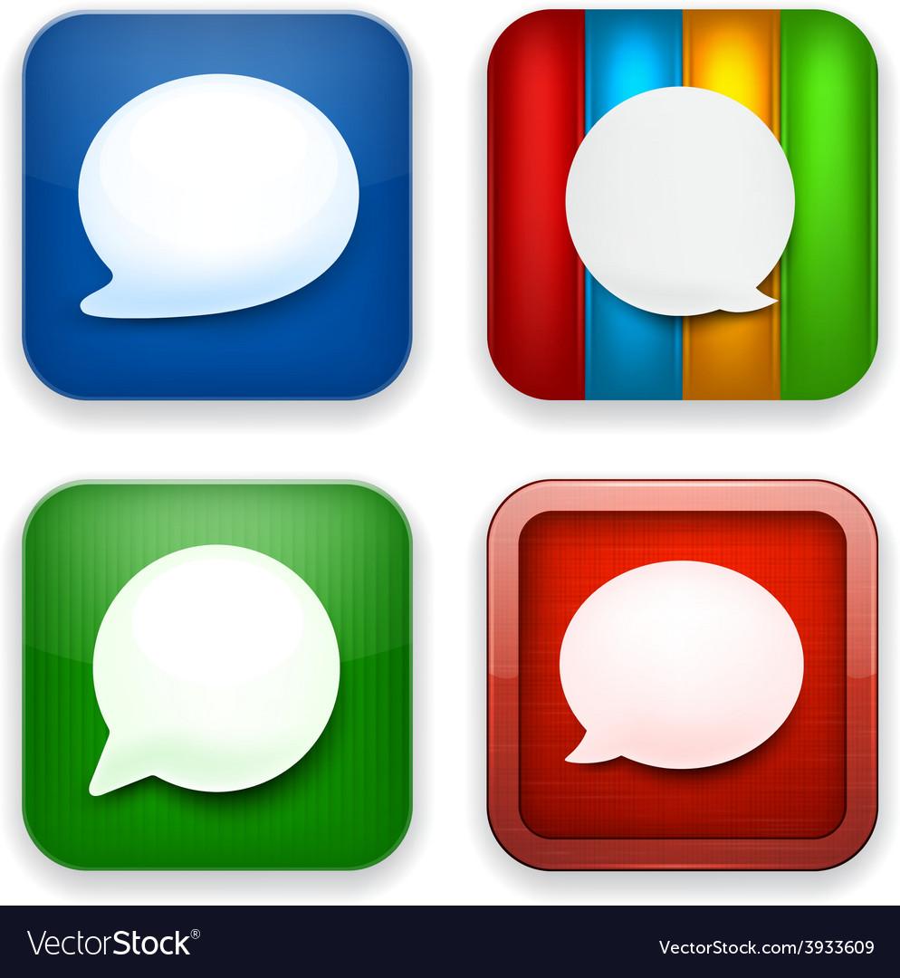 Web speech bubble app icons vector   Price: 1 Credit (USD $1)