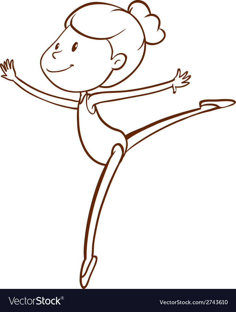 A simple sketch of a gymnast vector | Price: 1 Credit (USD $1)