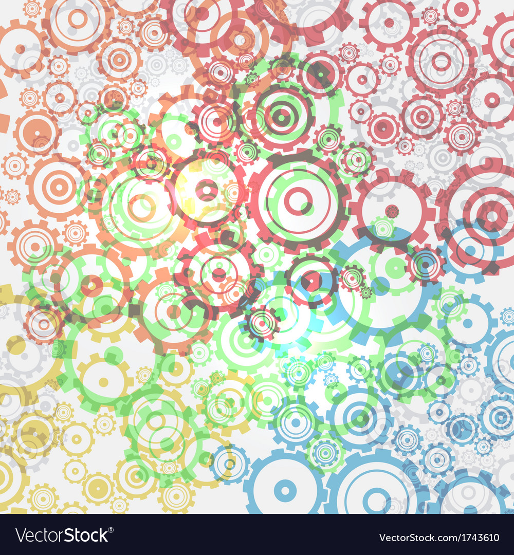 Abstract cogs - gears background vector | Price: 1 Credit (USD $1)