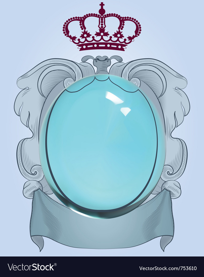 Baroque mirror vector | Price: 1 Credit (USD $1)