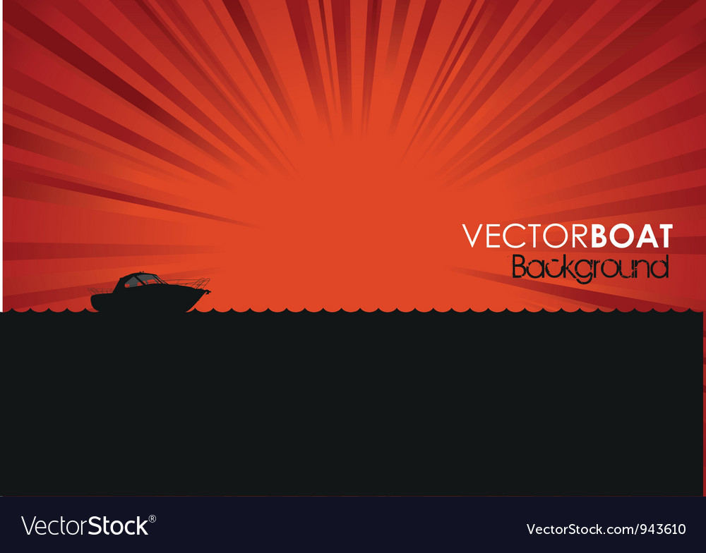 Boat banner vector | Price: 1 Credit (USD $1)