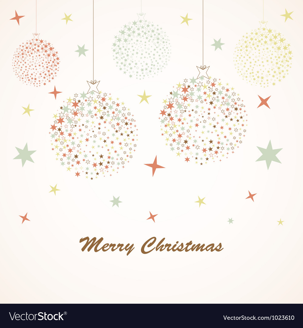 Christmas background retro vector | Price: 1 Credit (USD $1)