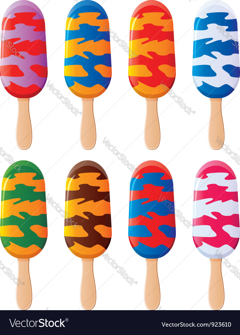 Colorful popsicles vector | Price: 3 Credit (USD $3)