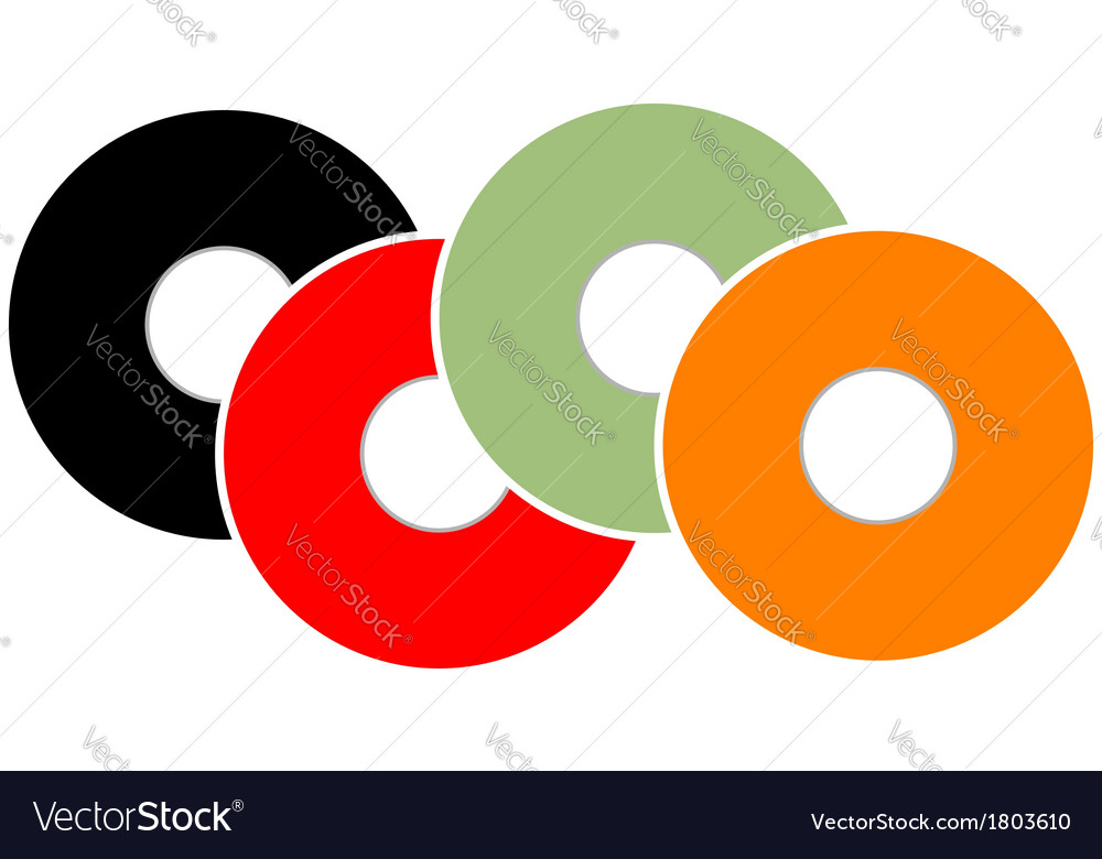 Colorful vinyl vector | Price: 1 Credit (USD $1)