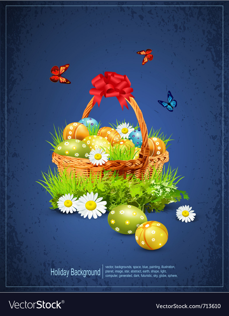Easter eggs background vector | Price: 1 Credit (USD $1)