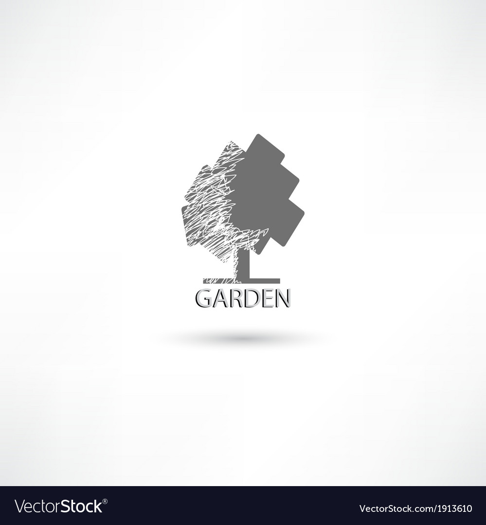 Garden tree vector | Price: 1 Credit (USD $1)