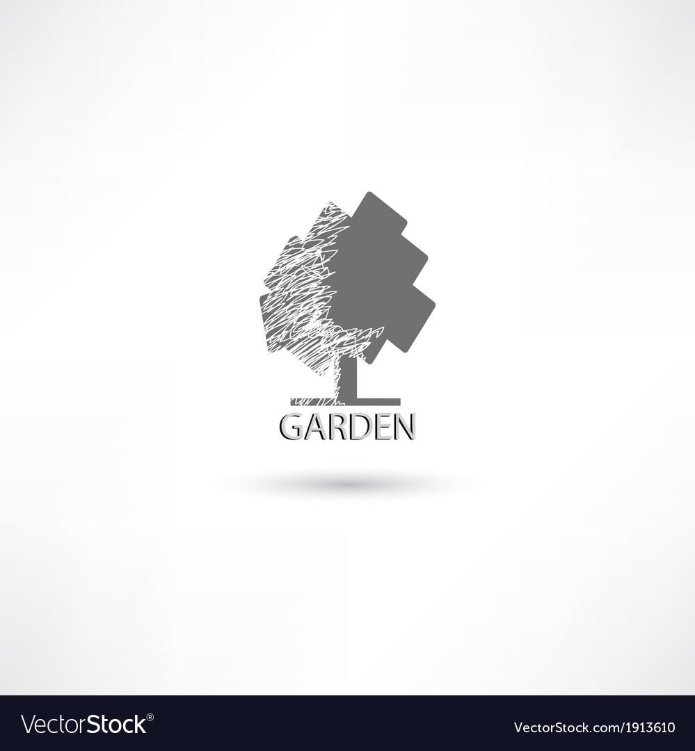Garden tree vector | Price: 1 Credit (USD $1)