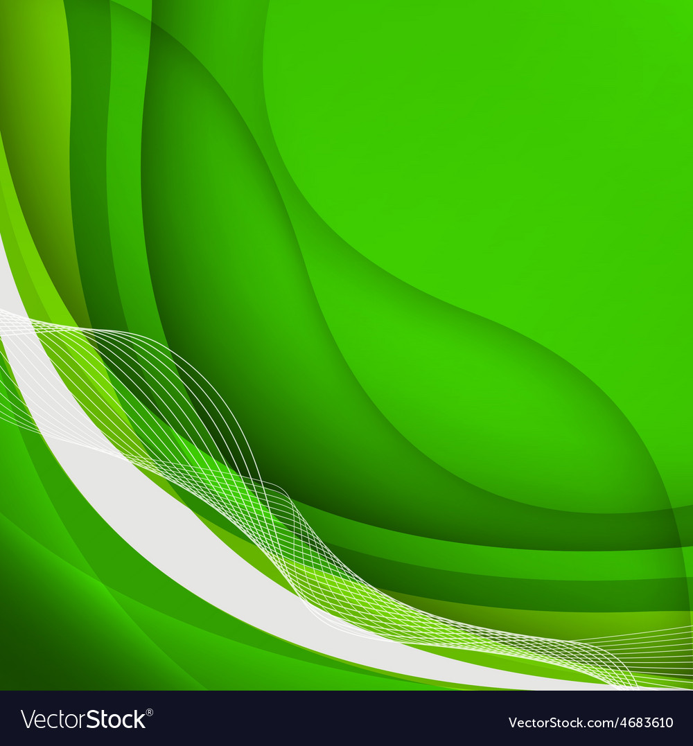 Green waves background vector | Price: 1 Credit (USD $1)