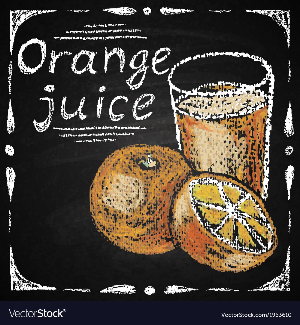 Hand drawn orange vector | Price: 1 Credit (USD $1)