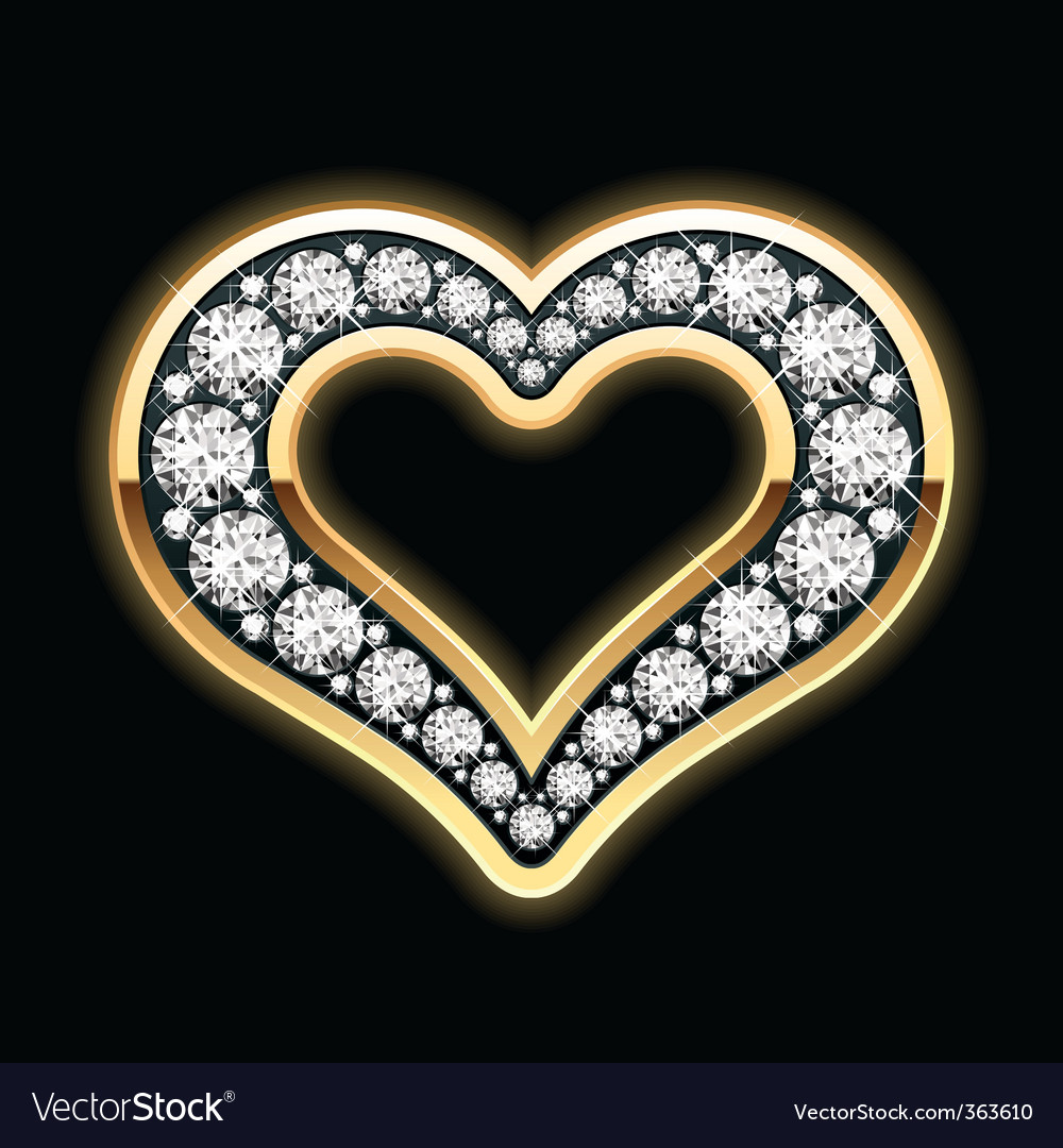 Heart in diamonds vector | Price: 1 Credit (USD $1)