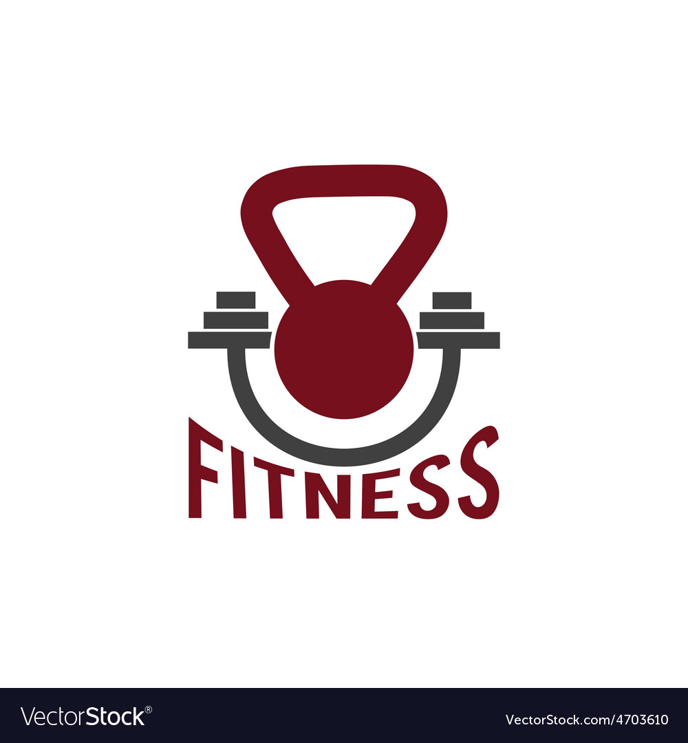 Kettlebell and barbell fitness design template vector | Price: 1 Credit (USD $1)