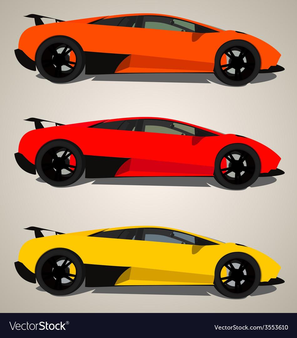 Lamborghini side view vector | Price: 1 Credit (USD $1)