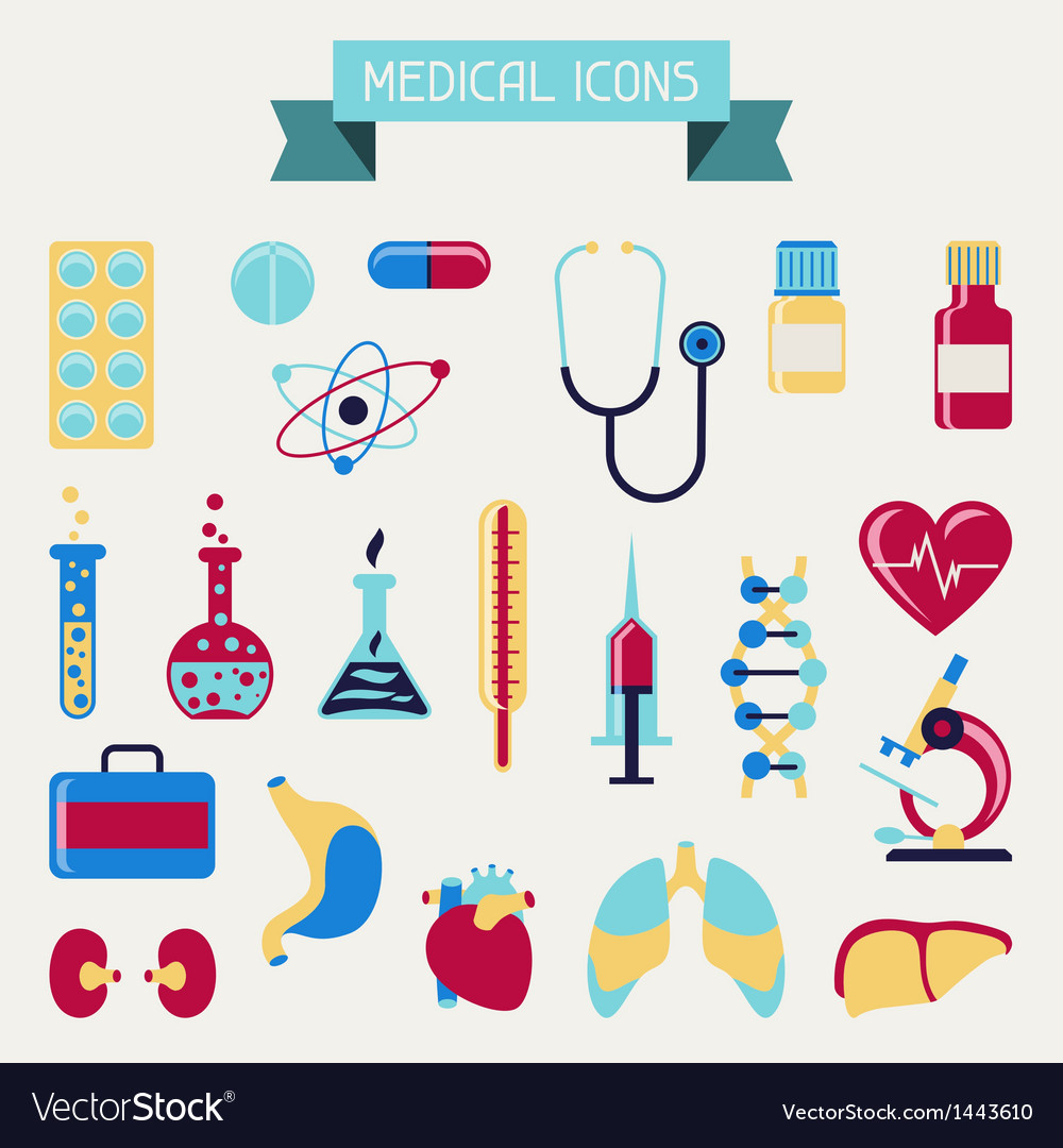 Medical and health care icons set vector | Price: 3 Credit (USD $3)