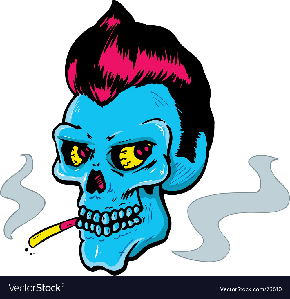 Rock and roll style skull vector | Price: 1 Credit (USD $1)