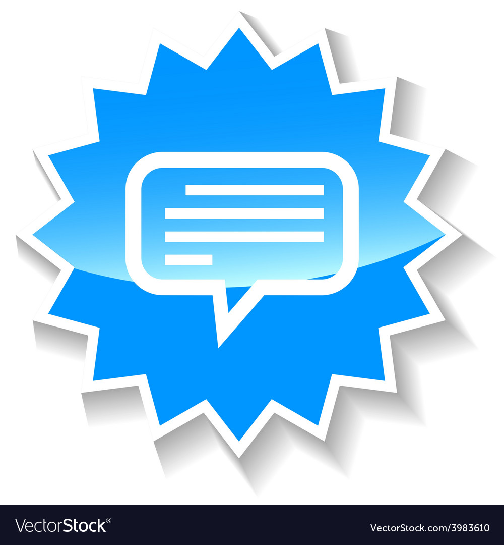 Talk blue icon vector | Price: 1 Credit (USD $1)
