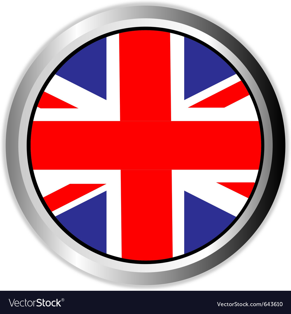 United kingdom england uk flag button vector | Price: 1 Credit (USD $1)