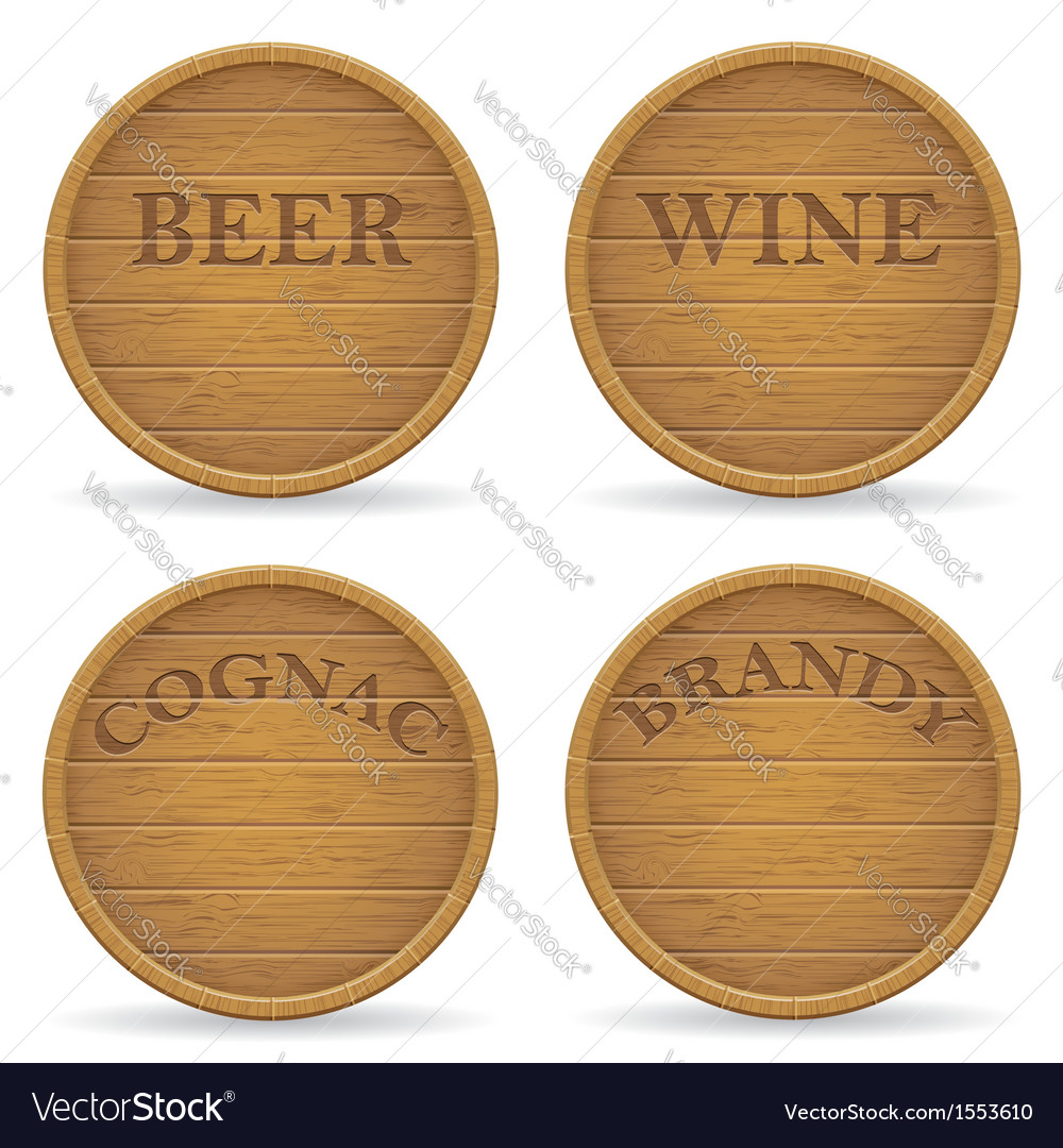 Wooden barrel 09 vector | Price: 1 Credit (USD $1)