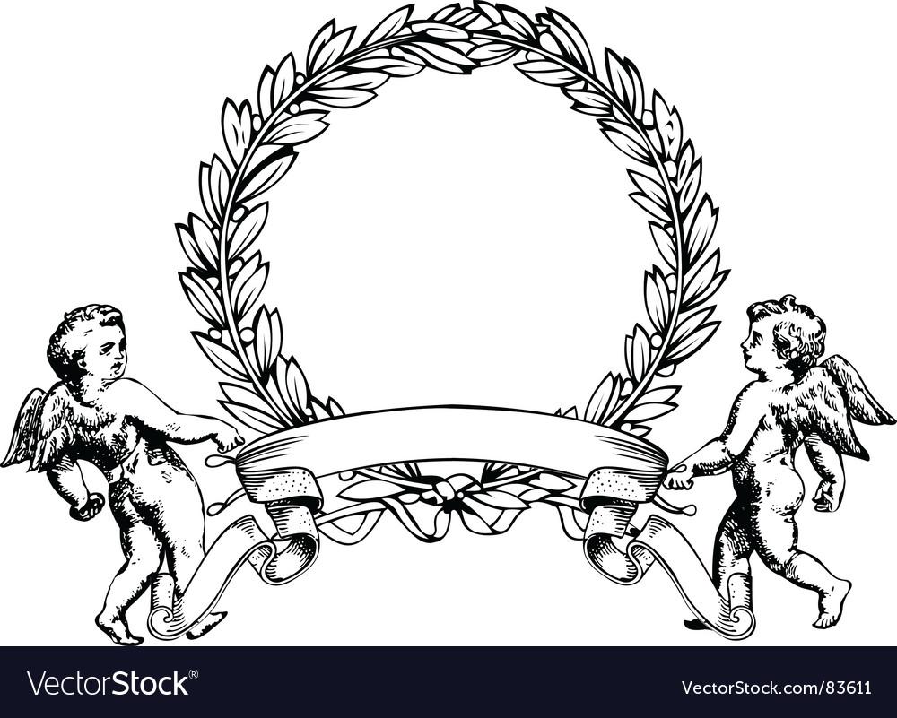Angels heraldry vector | Price: 1 Credit (USD $1)