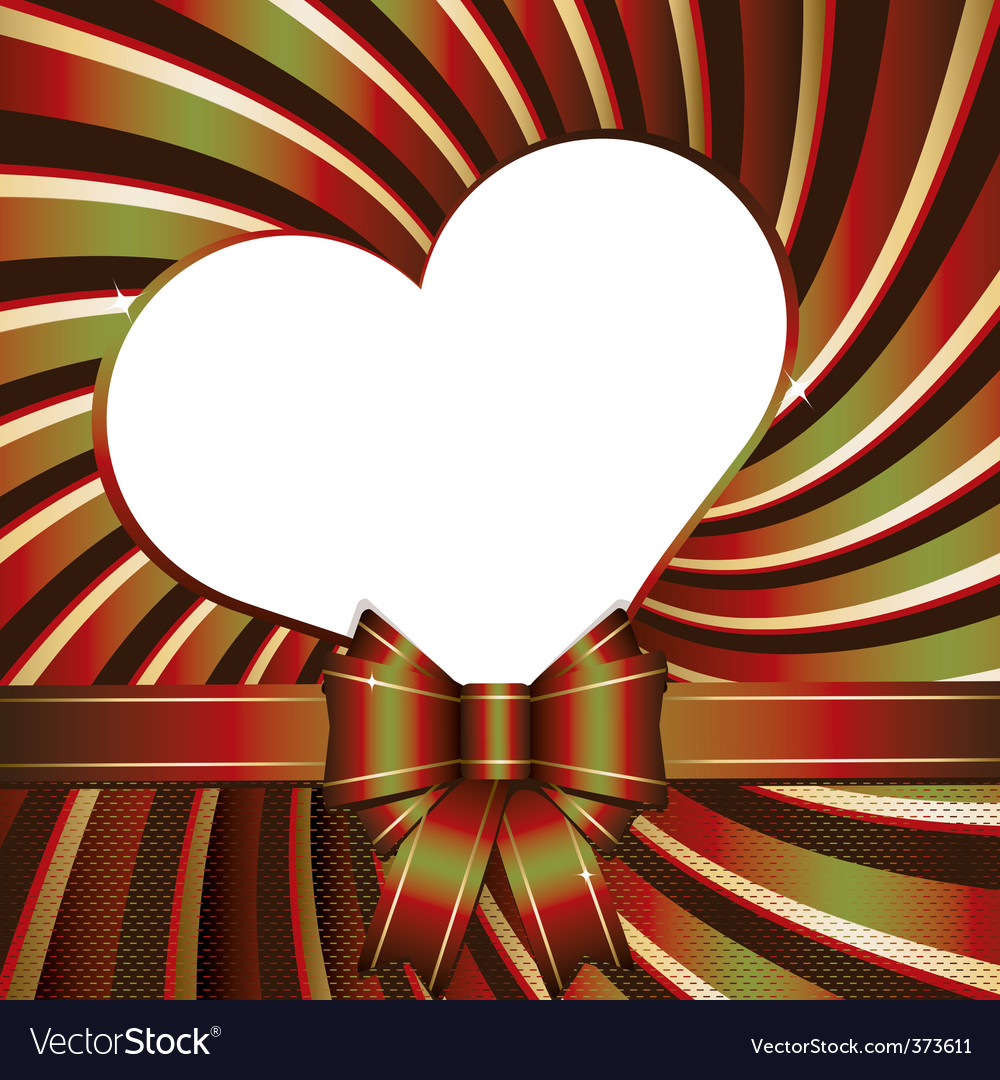 Background with heart and ribb vector | Price: 1 Credit (USD $1)