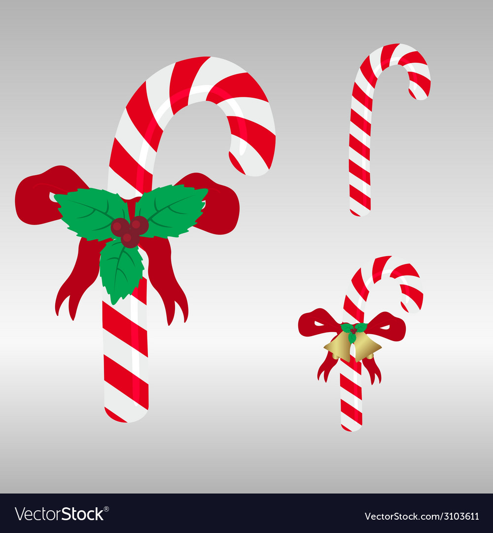 Christmas red and white sweets stick eps10 vector | Price: 1 Credit (USD $1)