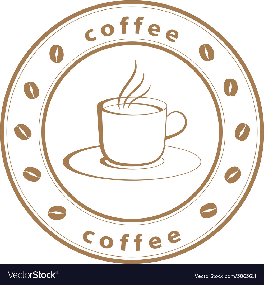 Coffee cup stamp vector | Price: 1 Credit (USD $1)