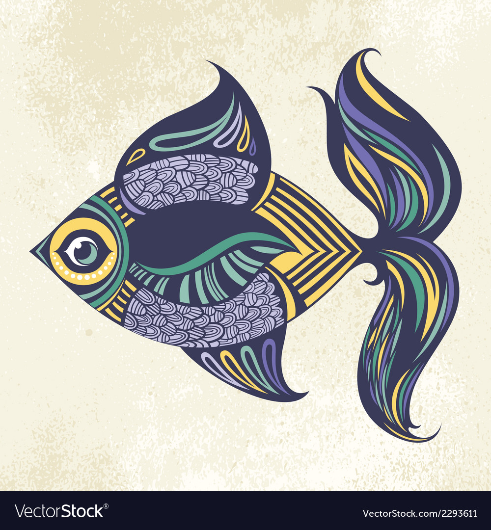 Colored fish vector | Price: 1 Credit (USD $1)