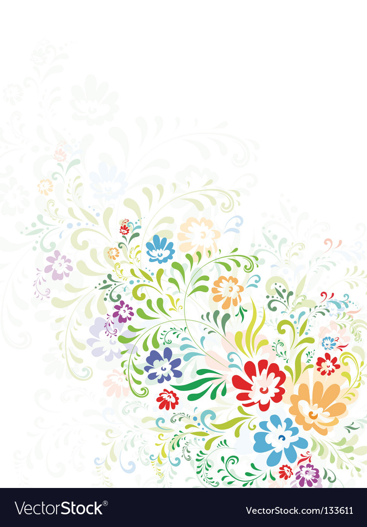 Floral abstract decoration vector | Price: 1 Credit (USD $1)