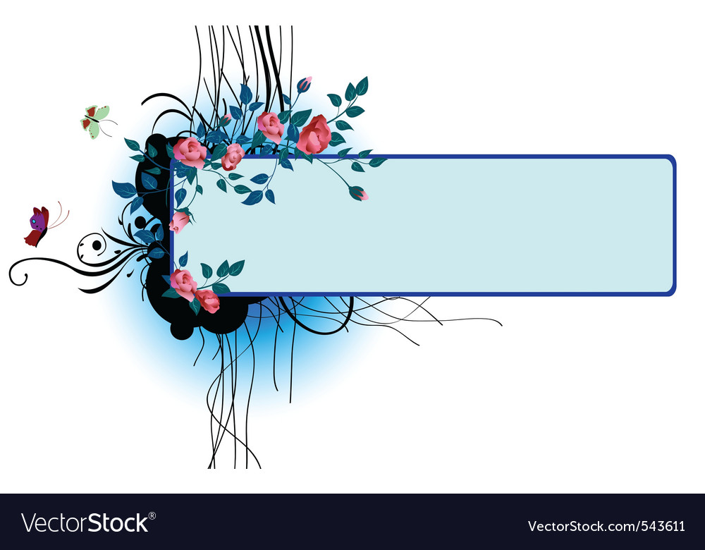 Floral banner invite vector   Price: 1 Credit (USD $1)