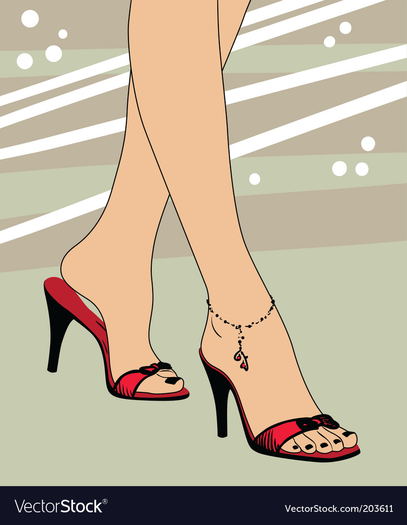 Foot and shoes vector | Price: 1 Credit (USD $1)